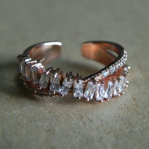 Entwined Zircon Ring